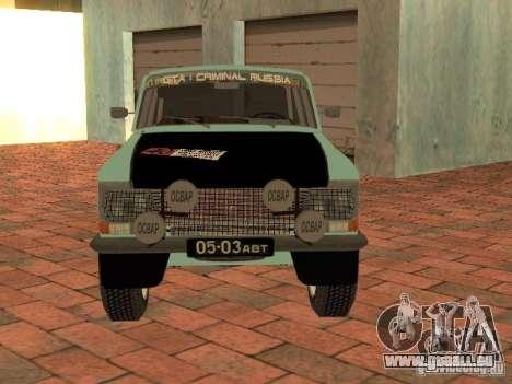 Moskvich 412-Rallye-Version für GTA San Andreas rechten Ansicht