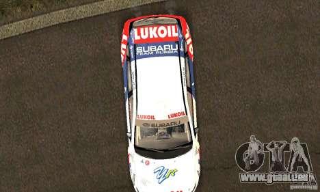 Subaru Impreza WRX STi Russia Rally pour GTA San Andreas vue de côté