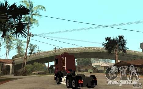 Scania 124 R480 6x4 Truck 1 für GTA San Andreas zurück linke Ansicht