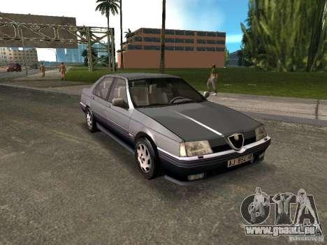 Alfa Romeo 164 pour GTA Vice City sur la vue arrière gauche