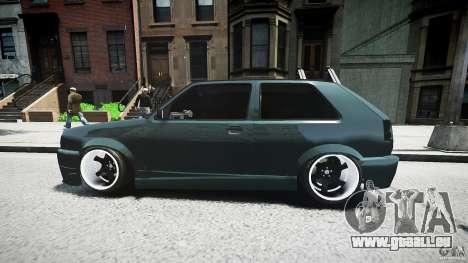 Volkswagen Golf 2 Low is a Life Style pour GTA 4 vue de dessus