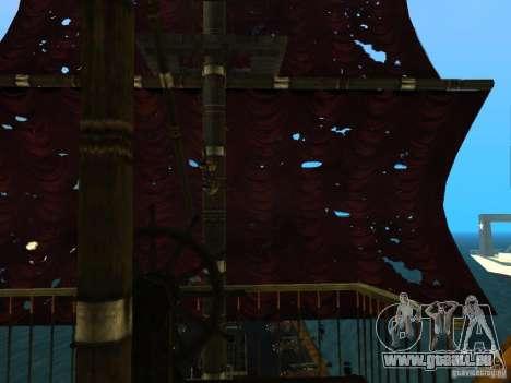 Queen Annes Revenge pour GTA San Andreas vue de côté