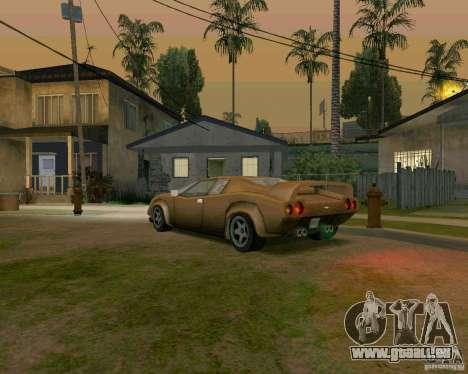 Infernus from Vice City pour GTA San Andreas vue de droite