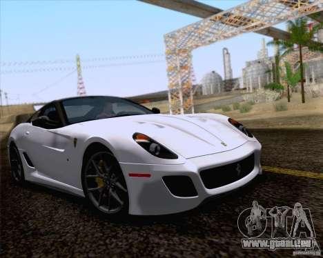 Ferrari 599 GTO 2011 v2.0 für GTA San Andreas