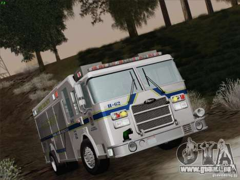 Pierce Fire Rescues. Bone County Hazmat für GTA San Andreas obere Ansicht