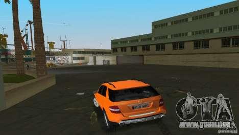Mercedes-Benz ML 500 pour une vue GTA Vice City de la droite