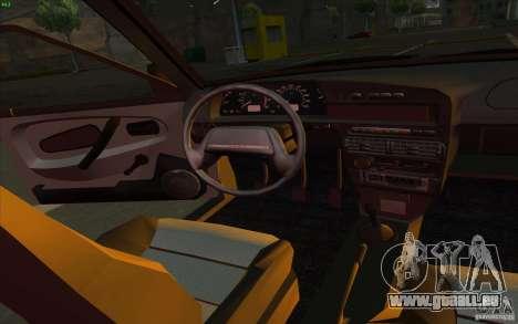 VAZ 2115 Stock v1.0 pour GTA San Andreas vue intérieure