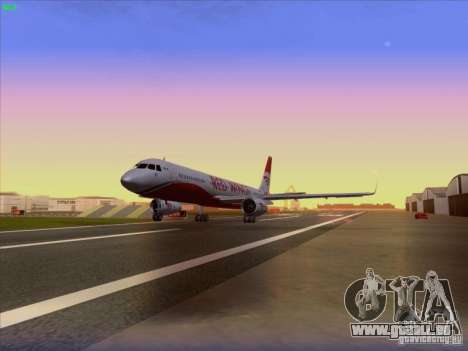 Tupolev Tu-204 Red Wings Airlines für GTA San Andreas Rückansicht