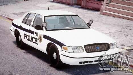 Ford Crown Victoria FBI Police 2003 pour GTA 4 est un côté