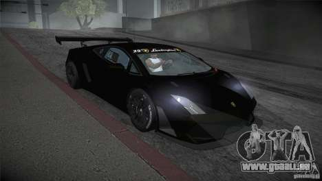 Lamborghini Gallardo LP560-4 GT3 pour GTA San Andreas vue arrière