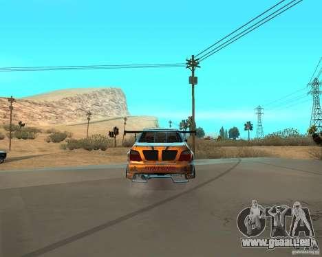 Subaru Impreza WRX Team Orange DRIFT SA-MP pour GTA San Andreas sur la vue arrière gauche