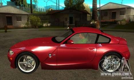 BMW Z4 - Stock pour GTA San Andreas laissé vue