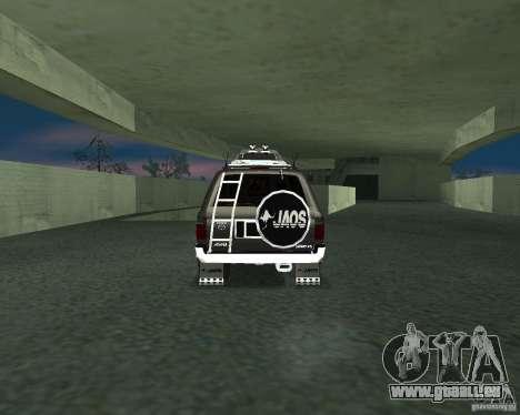 Toyota Surf v2.1 pour GTA San Andreas laissé vue