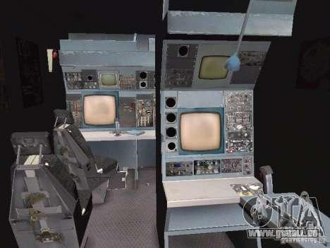 AC-130 Spooky II pour GTA San Andreas vue intérieure
