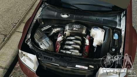 Audi RS6 2003 pour GTA 4 vue de dessus