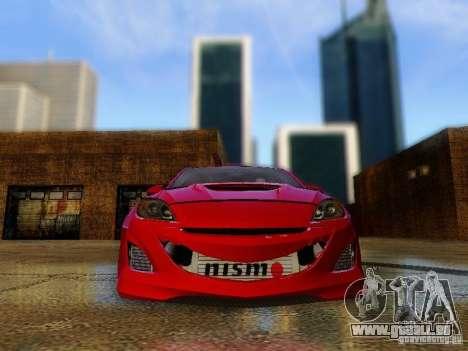 Mazda Speed 3 2010 für GTA San Andreas Rückansicht