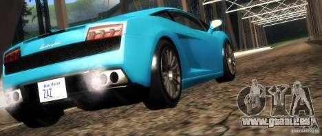 Lamborghini Gallardo LP560-4 pour GTA San Andreas vue de dessous