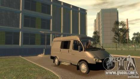 GAZ 2752 Sobol für GTA 4 Rückansicht