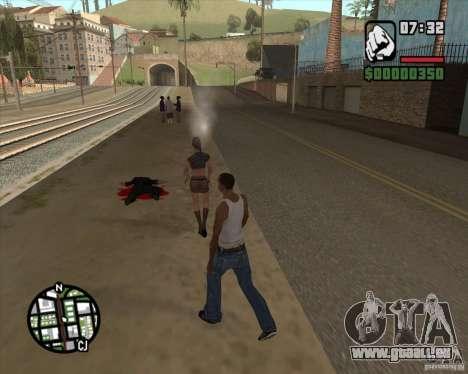Passants qui explose le cerveau pour GTA San Andreas troisième écran