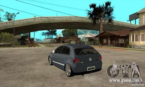 Volkswagen Gol G5 pour GTA San Andreas sur la vue arrière gauche