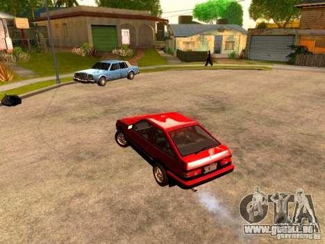 Toyota Corolla Carib AE 86 pour GTA San Andreas sur la vue arrière gauche