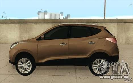 Hyundai ix35 für GTA San Andreas zurück linke Ansicht