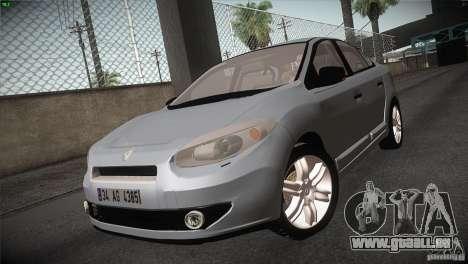Renault Fluence für GTA San Andreas