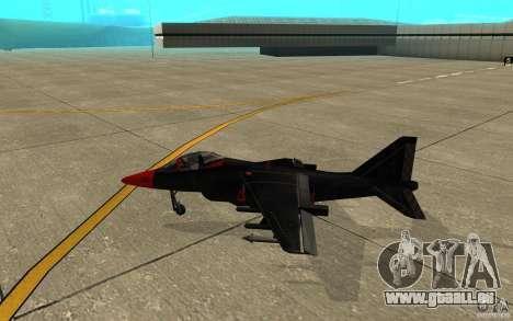 Black Hydra v2.0 pour GTA San Andreas sur la vue arrière gauche
