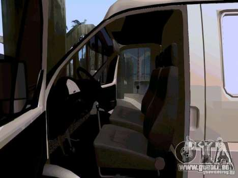 Gazelle 2705 1994 für GTA San Andreas Rückansicht