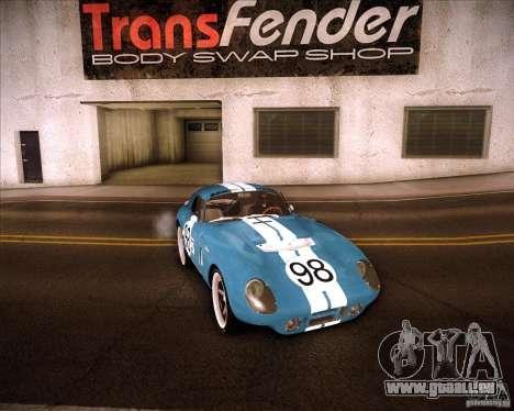 Shelby Cobra Daytona Coupe 1965 pour GTA San Andreas vue arrière