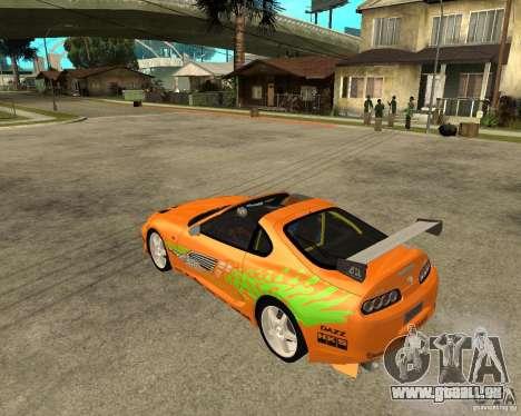 1995 Toyota Supra fnf (BETA!) pour GTA San Andreas laissé vue