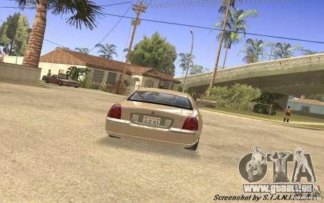 Lincoln Towncar Secret Service pour GTA San Andreas vue de droite