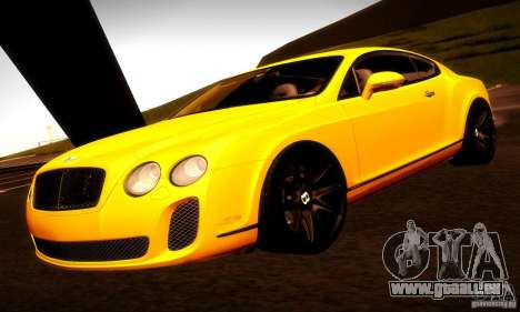 Bentley Continental Supersports für GTA San Andreas Innen