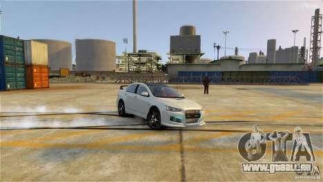 Mitsubishi Lancer Evo X pour GTA 4 est une gauche