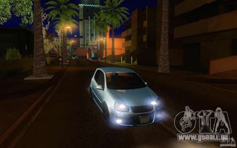 Volkswagen Golf MK5 pour GTA San Andreas vue arrière