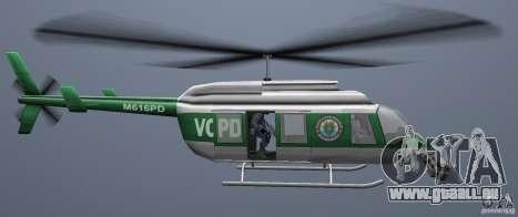 VCPD Chopper für GTA Vice City rechten Ansicht