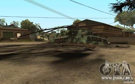 MI-24A für GTA San Andreas linke Ansicht