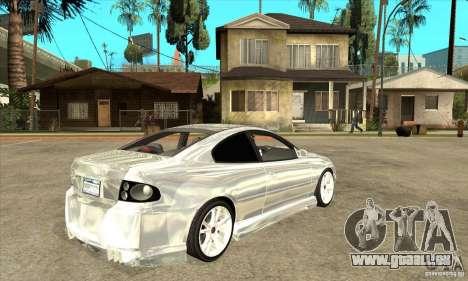 Holden Monaro CV8-R Tuned für GTA San Andreas rechten Ansicht