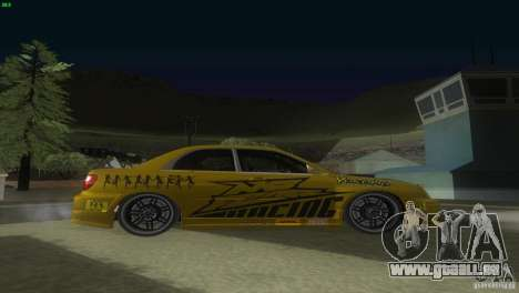 Subaru Impreza WRX No Fear pour GTA San Andreas vue de droite