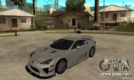 Lexus LFA 2010 für GTA San Andreas