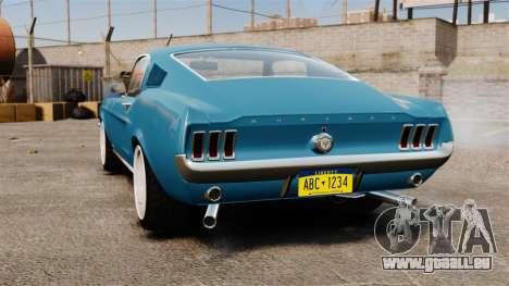 Ford Mustang Customs 1967 pour GTA 4 Vue arrière de la gauche
