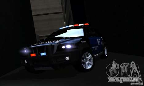 NFS Undercover Police SUV für GTA San Andreas obere Ansicht