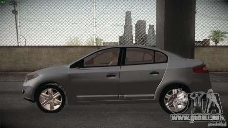 Renault Fluence pour GTA San Andreas vue arrière