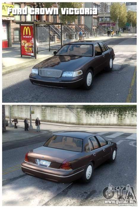 Ford Crown Victoria pour GTA 4 est une gauche