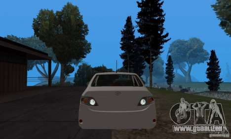 Toyota Corolla pour GTA San Andreas vue arrière