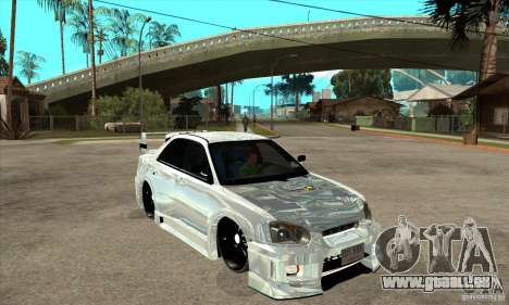 Subaru Impreza Tunned pour GTA San Andreas vue arrière