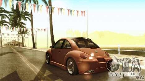 Volkswagen Beetle RSi Tuned für GTA San Andreas obere Ansicht