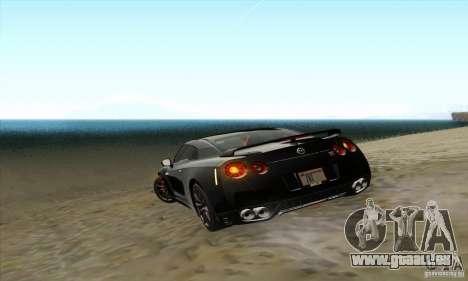 Nissan GT-R R-35 2012 pour GTA San Andreas vue de côté