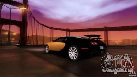 Bugatti Veyron 16.4 für GTA San Andreas Innen