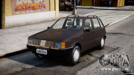 Fiat Uno 70SX 1989-1993 für GTA 4 Rückansicht